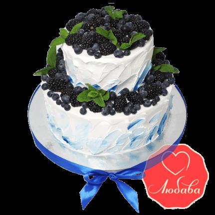 Торт с ягодами черника с яжевикой №1309