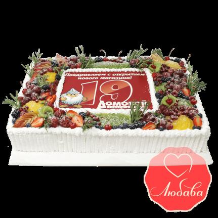Торт с ягодами корпоративный №1312