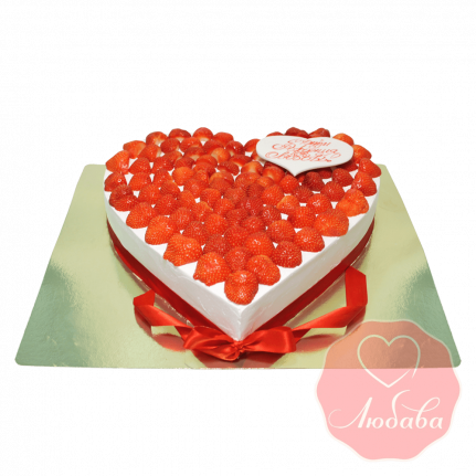 Торт с ягодами сердце №1327