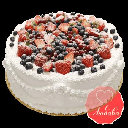 Торт с ягодами №1330