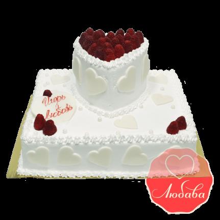 Свадебный Торт с ягодами №1331