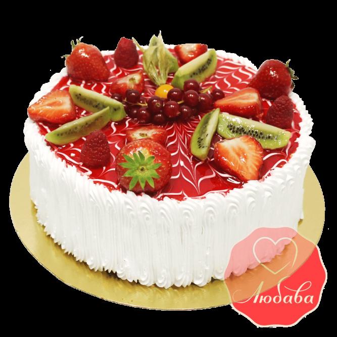 Торт с ягодами №1335