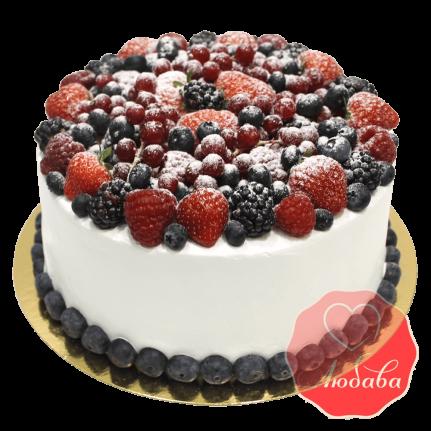 Торт с ягодами №1342