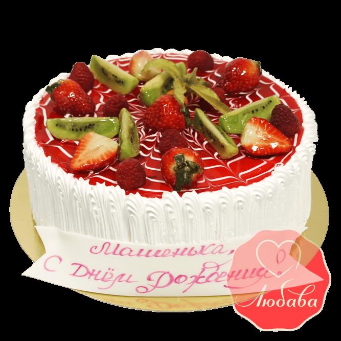 Торт с ягодами №1343