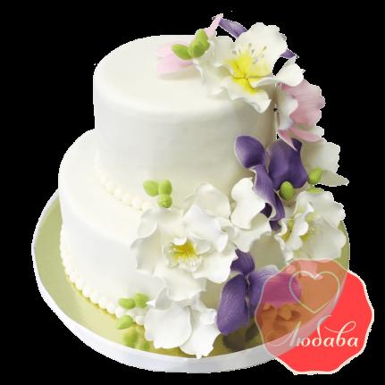 Свадебный Торт с орхидеями №1356