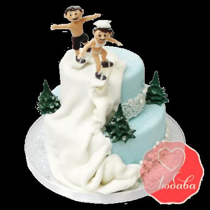 Свадебный Торт сноубордисты №1360