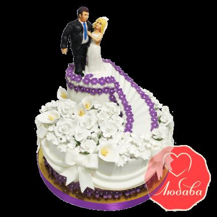 Свадебный Торт с парой №1364