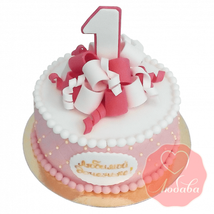 Торт дочке на 1 годик №1389
