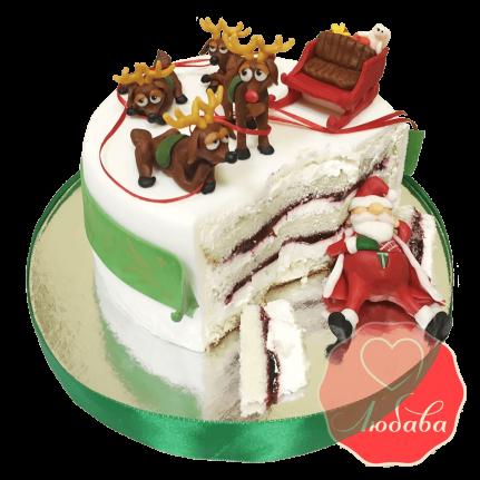 Торт на новый год с дедом морозом №1401