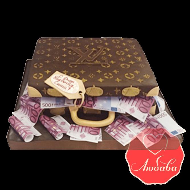 Торт сумка луи витон с евро №1402