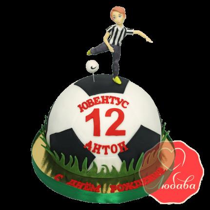 3Д торт Футбольный мяч Ювентус №1403