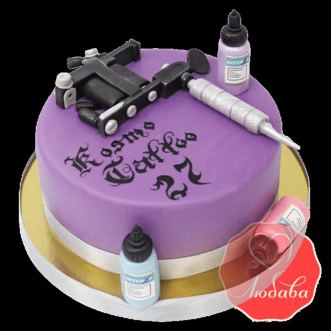 Корпоративный торт kosmo tattoo №1404
