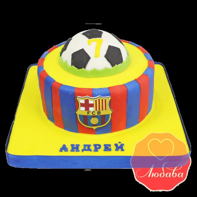 Торт футбольный Барселона №1405
