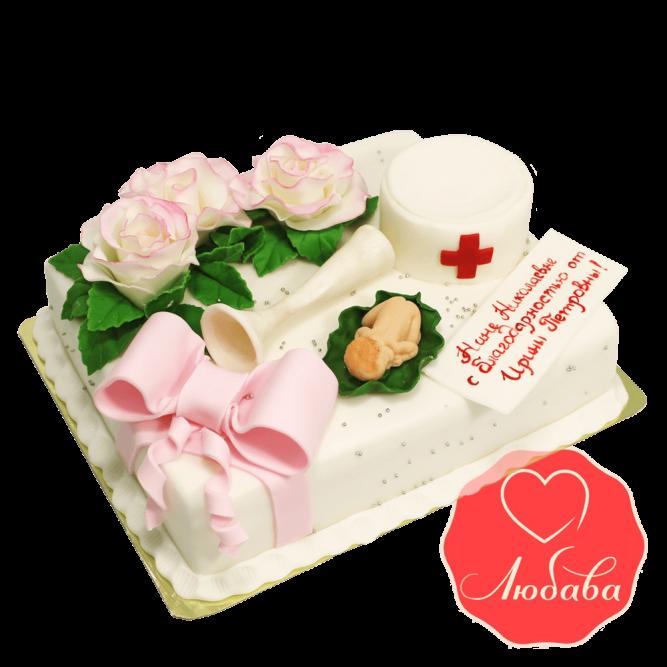 Торт в благодарность врачу №1406