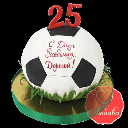 3Д торт футбольный мяч №1407