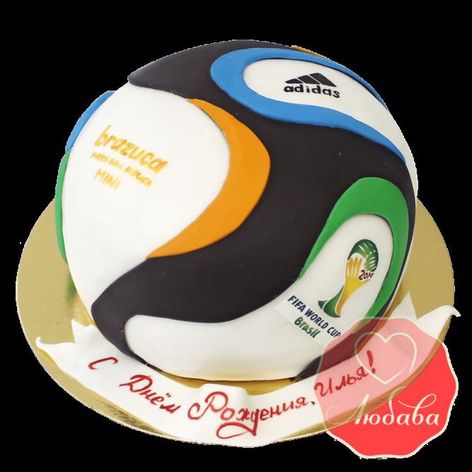 3Д торт футбольный мяч FIFA №1411
