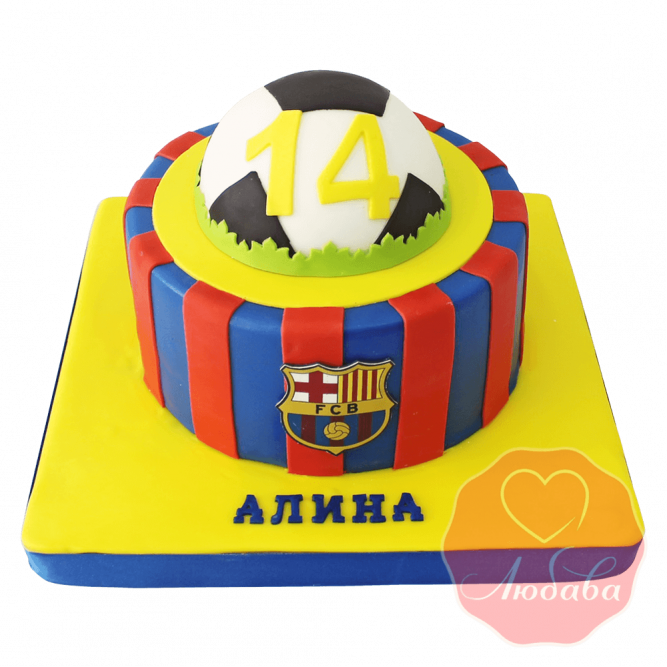 Торт футбольный Барселона №1417