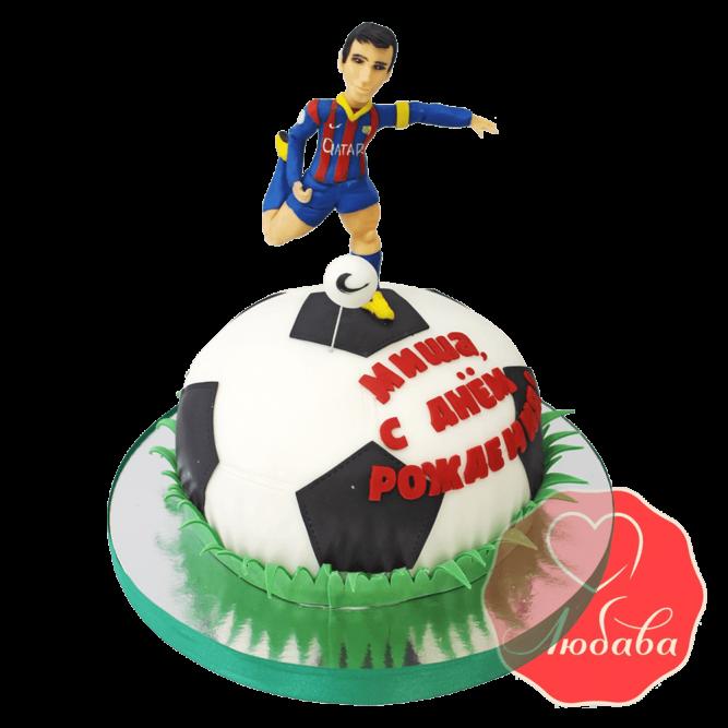 3Д торт футбольный Барселона №1424
