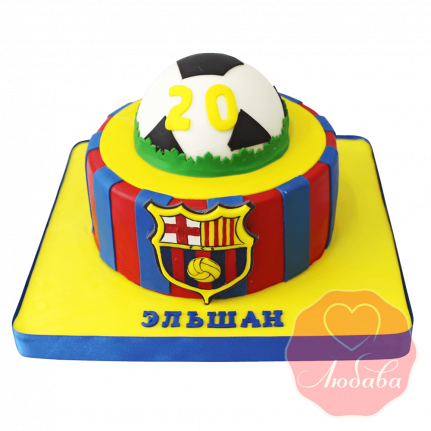 Торт футбольный Барселона №1430