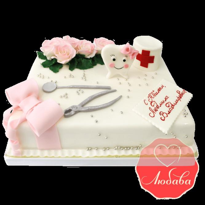 Торт на юбилей стоматологу №1436