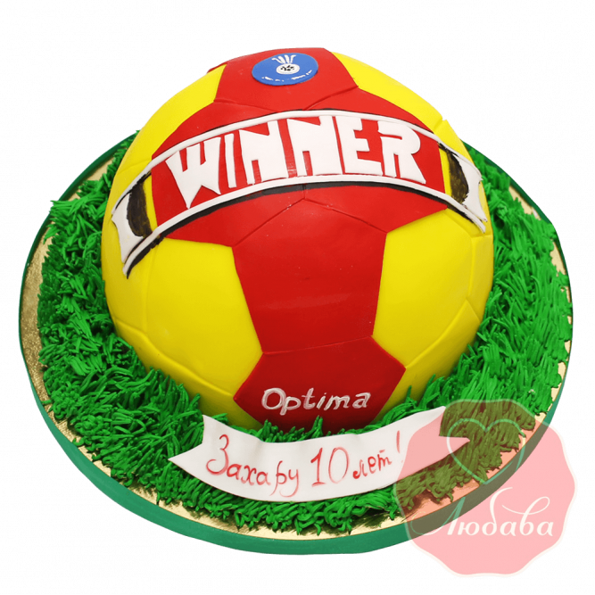3Д торт футбольный мяч №1440