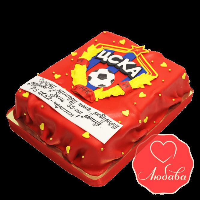 Торт футбольный ЦСКА №1453