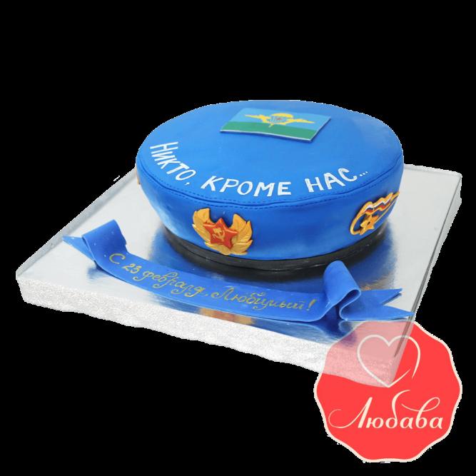 Торт голубой берет ВДВ №1488