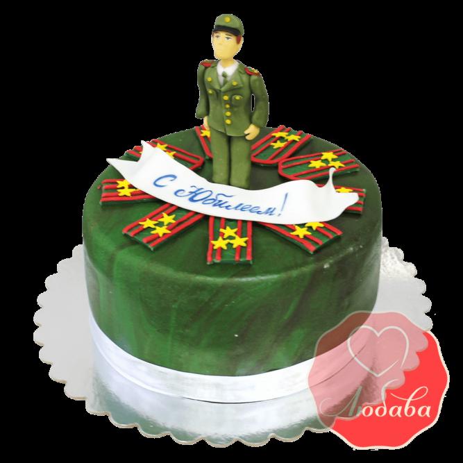 Торт на юбилей военному №1493