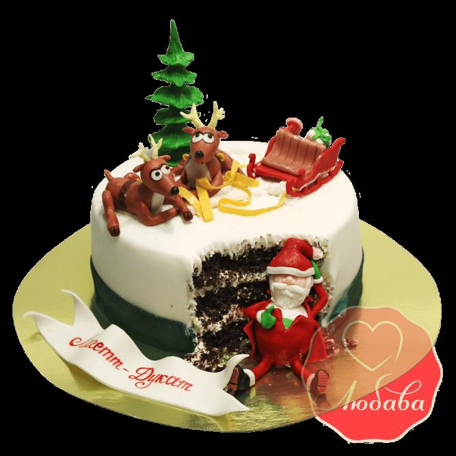 Торт на новый год пьяный дед мороз №1499