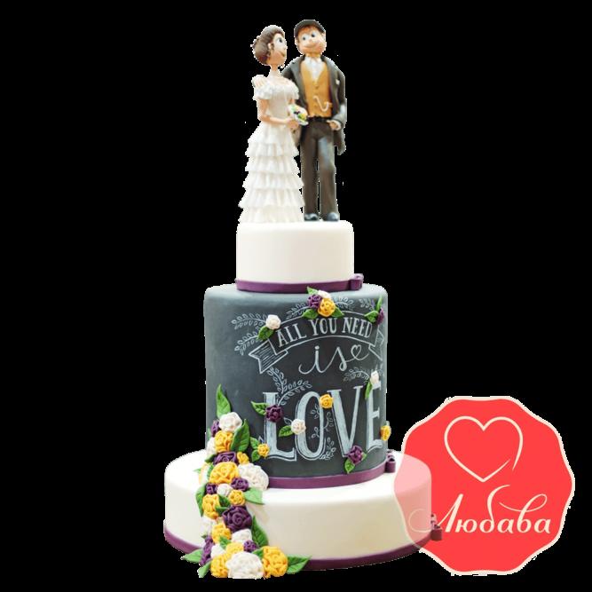 Свадебный Торт с парой №1512
