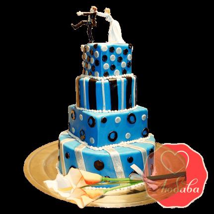 Свадебный Торт с парой №1516