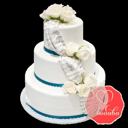 Свадебный Торт с нотами №1518