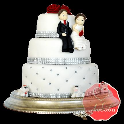 Свадебный Торт с парой №1521