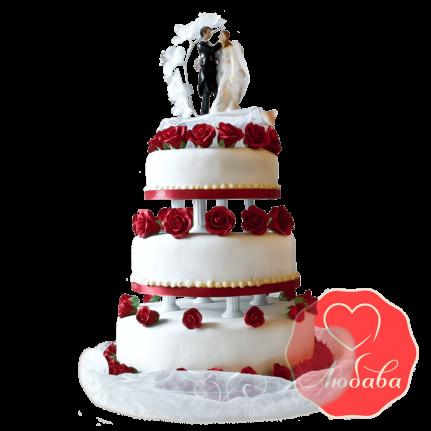 Свадебный Торт с парой №1524