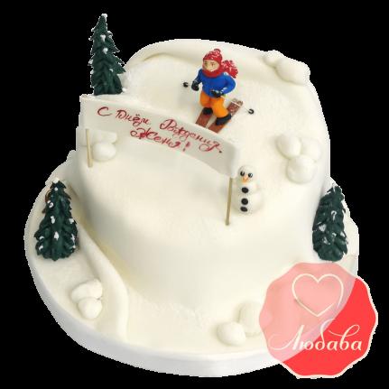 Торт для лыжника №1525