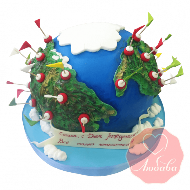 3Д торт Планета земля №1533