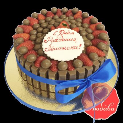 Торт с ягодами и шоколадом №1534