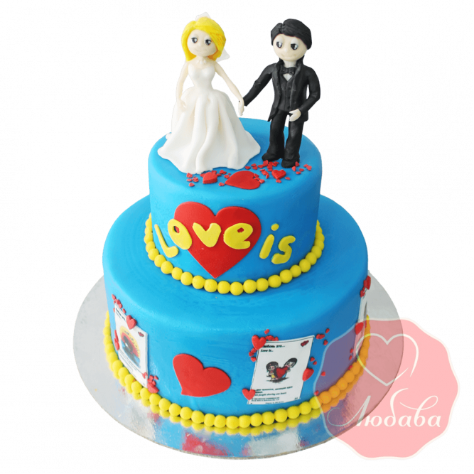 Свадебный Торт Лав-из (Love is) №1554