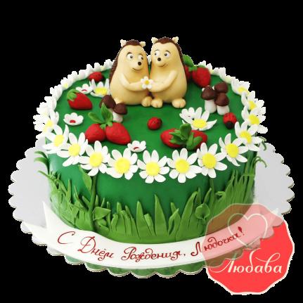 Торт детский с ежиками №1645