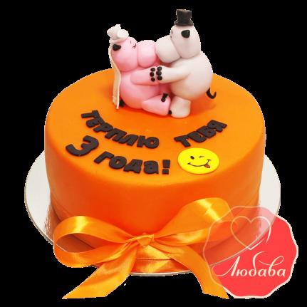 Торт с бегемотиками №1646