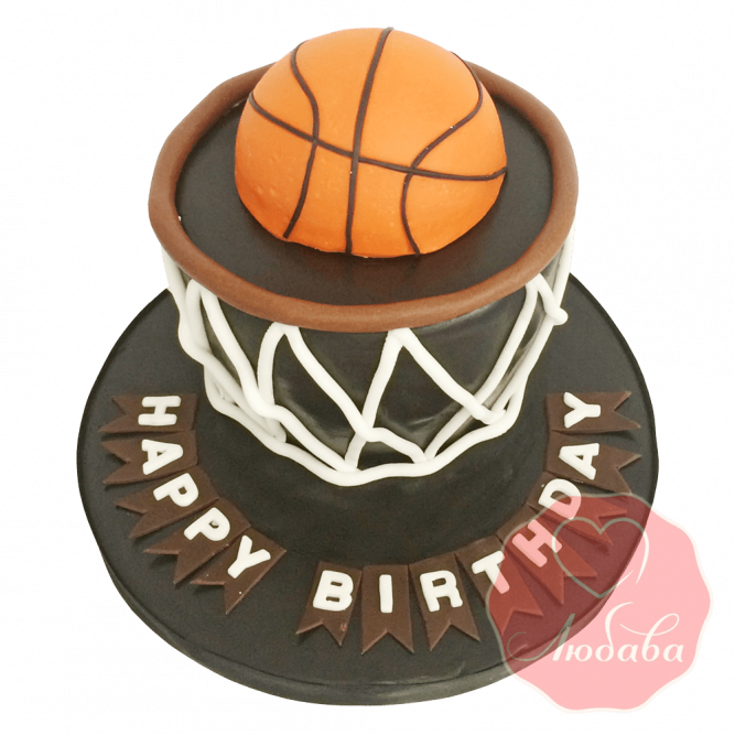 Торт Баскетбольная корзина с мячом №1655