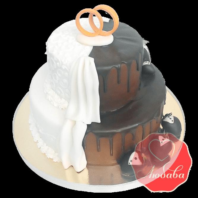 Свадебный торт Шоколадный №1656