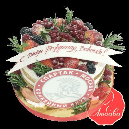 Торт Спартак с ягодами №1658