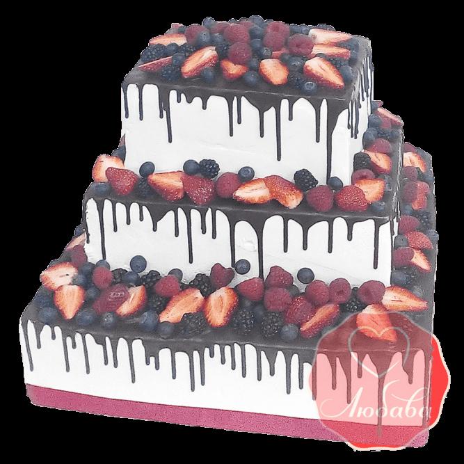 Торт ягодно-шоколадный №1659