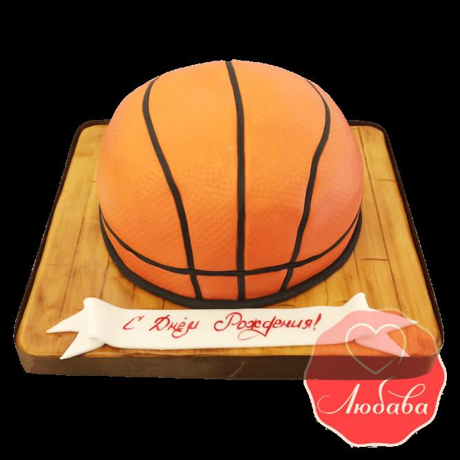 Торт Баскетбольный мяч на паркете №1660
