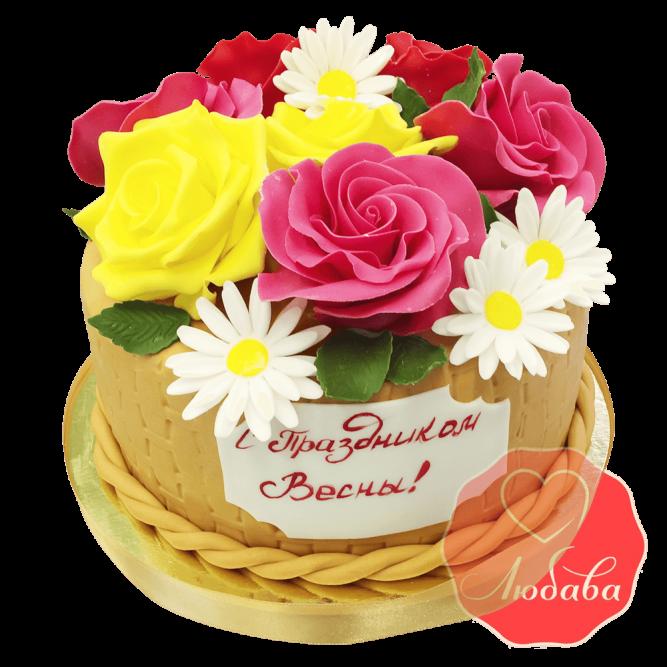 Торт Весенний букет №1663