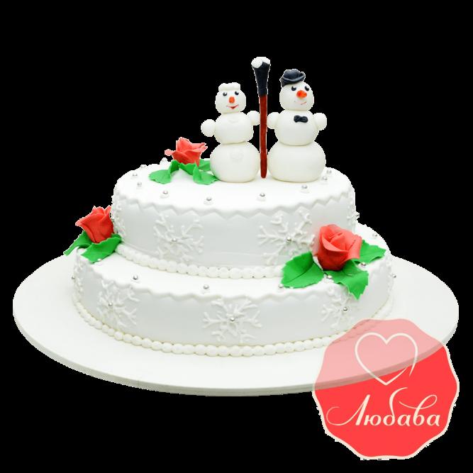 Свадебный со снеговиками №1667