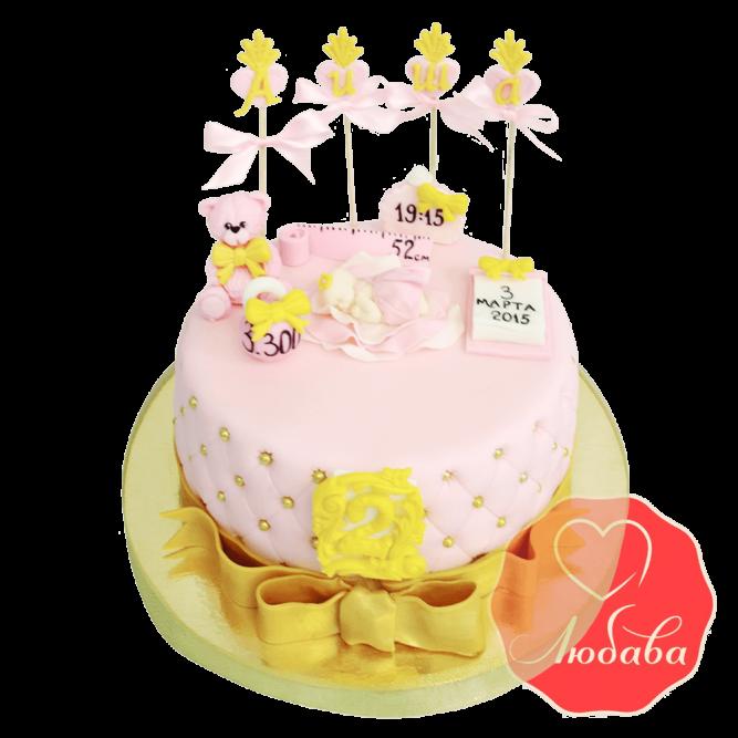 Торт детский на рождение №1679