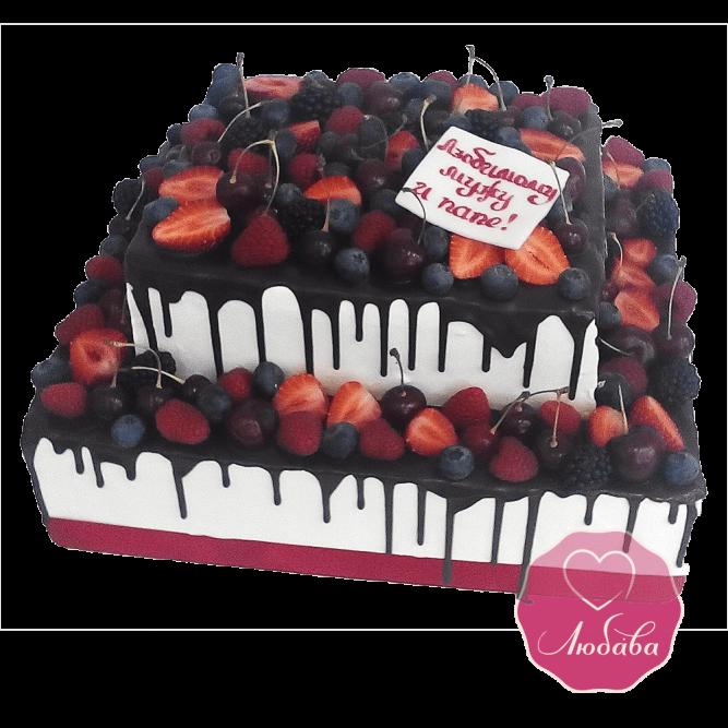 Торт ягодный шоколадный №1687