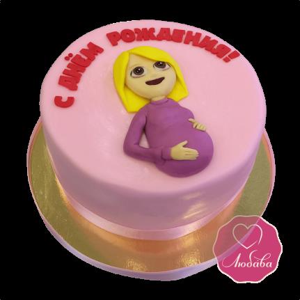 Торт смайлик Беременная женщина №1693